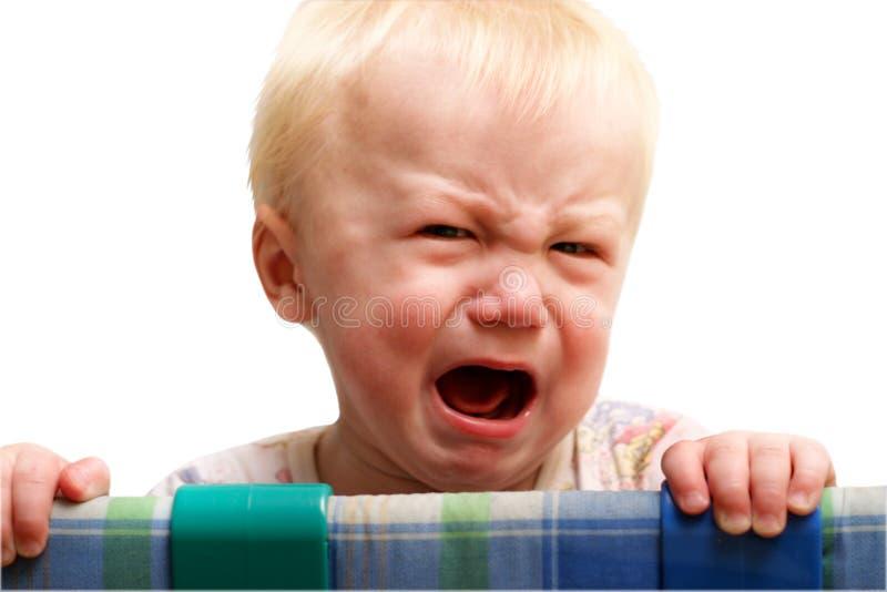 Um grito do menino imagens de stock