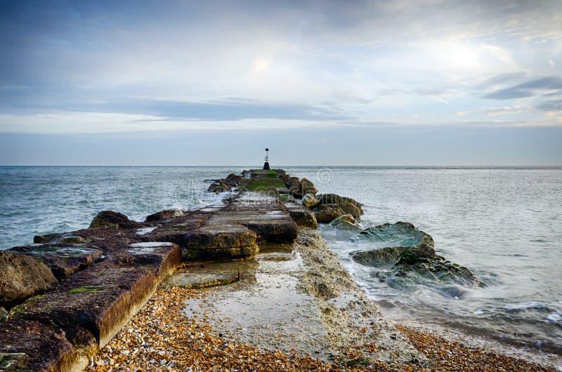 Mar Groyne imagens de stock royalty free