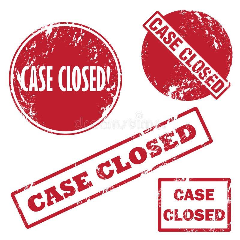 Carimbo de borracha fechado do caso ilustração do vetor