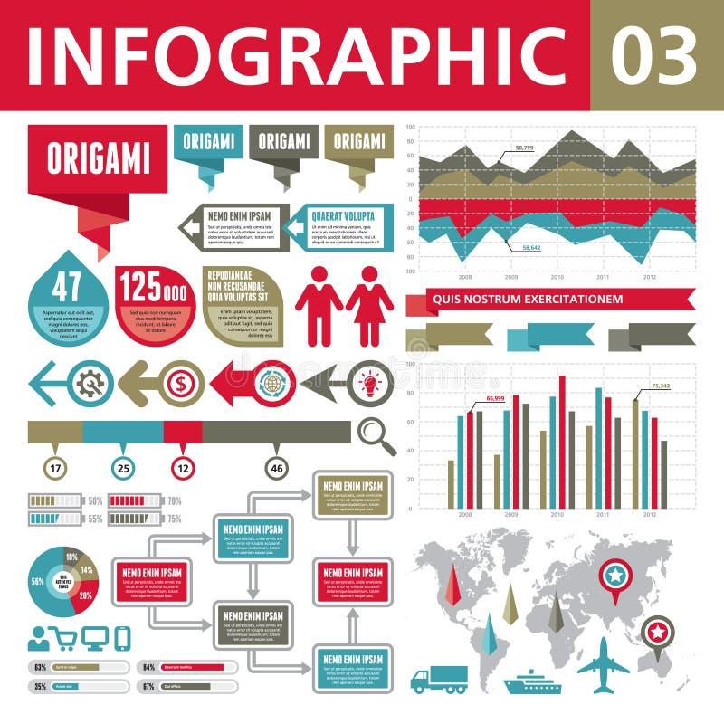 Elementos 03 de Infographic ilustração royalty free