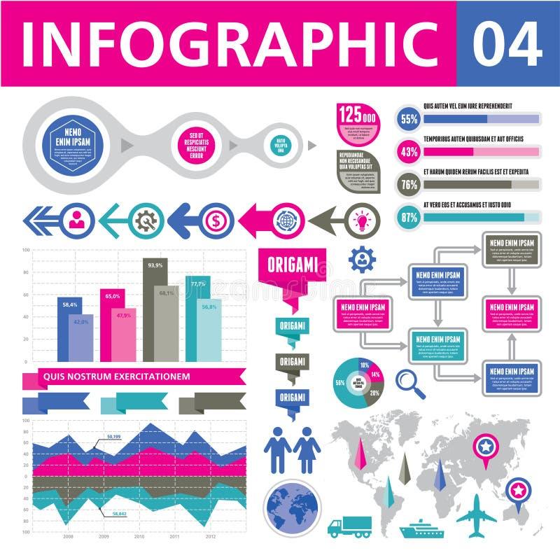 Elementos 04 de Infographic ilustração stock