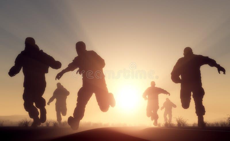 Um grupo de homens ilustração stock