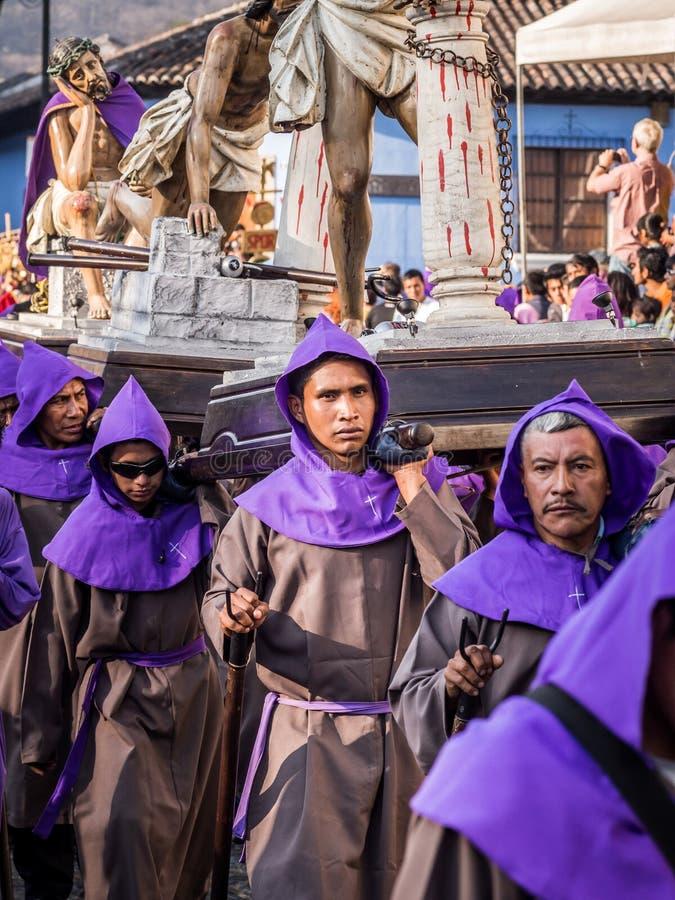 Procissão de Antígua Easter fotos de stock royalty free