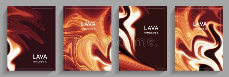Um grupo de lava de fluxo dos folhetos ilustração royalty free