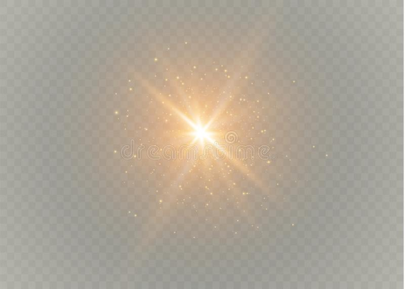 Um grupo de mágica do relâmpago e de efeitos da luz brilhantes Ilustração do vetor Corrente elétrica da descarga Corrente de carg ilustração do vetor