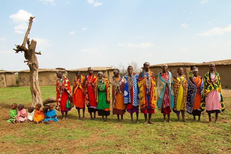 Um grupo de mulheres do kenyan fotografia de stock