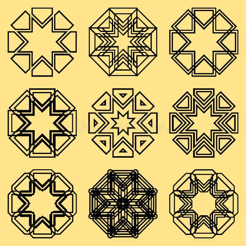 Um grupo de ornamento do norte ilustração stock