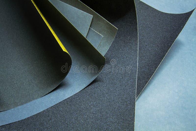Um grupo de sandpapers fotografia de stock
