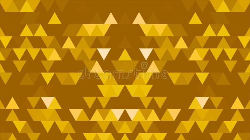 Um grupo de triângulos e de formas é móvel e em mudança cores Bloco reflexivo aleatório tridimensional do caleidoscópio ilustração royalty free