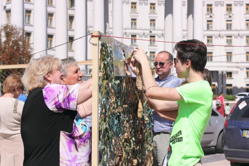 Um grupo de voluntários fotografia de stock royalty free