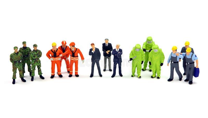 Um grupo diverso de trabalhadores imagem de stock