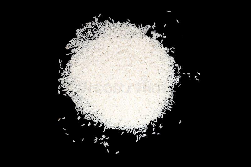 um grupo do arroz branco isolado em um fundo preto Cu chinês imagem de stock