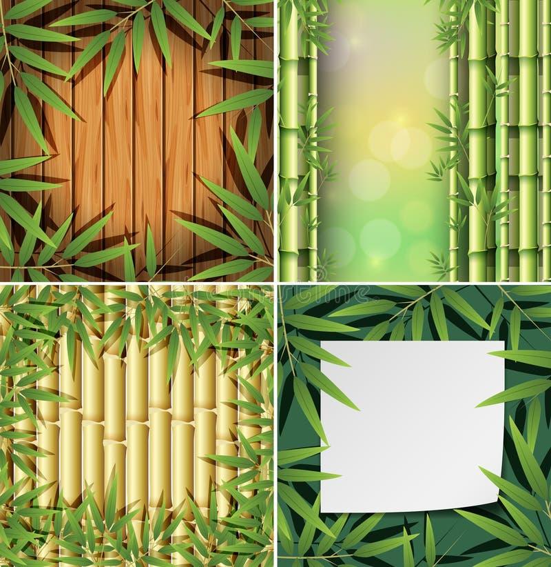 Um grupo do fundo de bambu ilustração royalty free