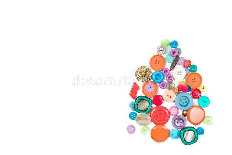 Um grupo dos botões multi-coloridos O lugar para uma inscrição do texto imagens de stock