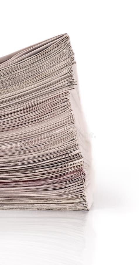 Um grupo dos jornais imagem de stock
