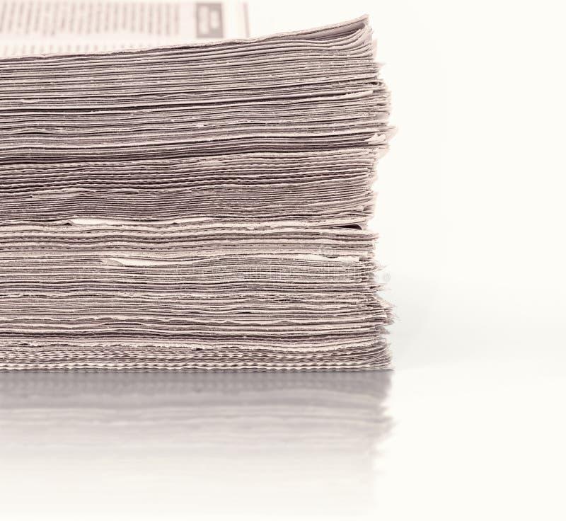 Um grupo dos jornais ilustração stock