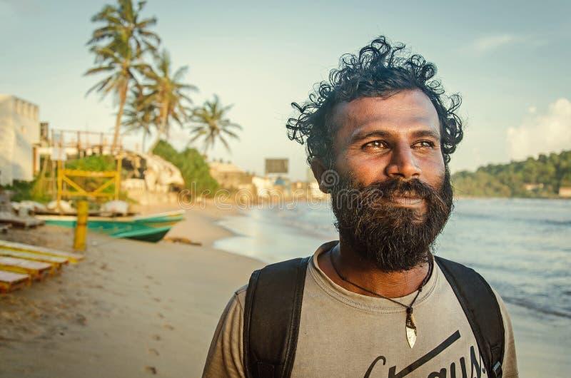 Um homem cingalês positivo imagem de stock royalty free