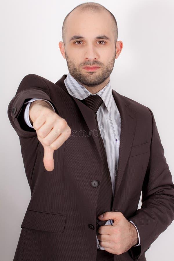 Um homem com terno fotos de stock royalty free