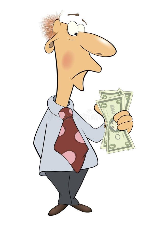 Um Homem De Negócio Com Desenhos Animados Do Dinheiro Ilustração do Vetor -  Ilustração de economia, avatar: 43018703