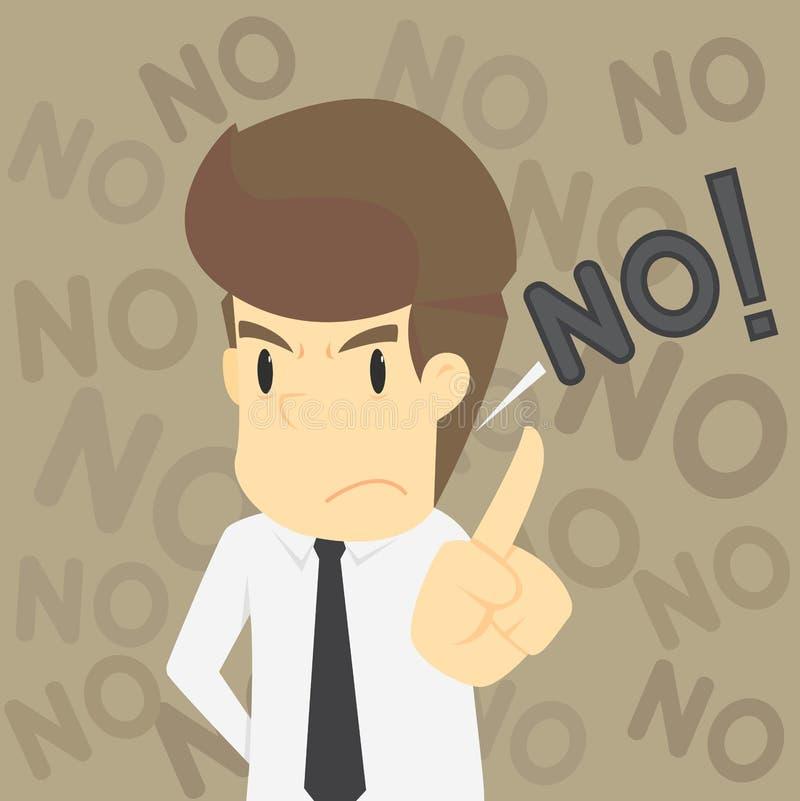 Um homem de negócios e recusa a proposta ilustração do vetor