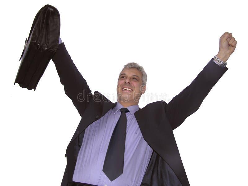 Um homem de negócios feliz fotos de stock royalty free