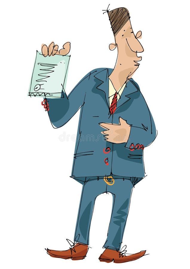 Um homem do pessoal do banco ilustração royalty free