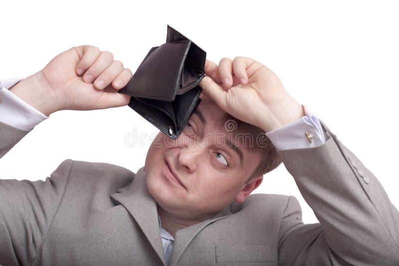 Um homem e uma bolsa imagens de stock royalty free
