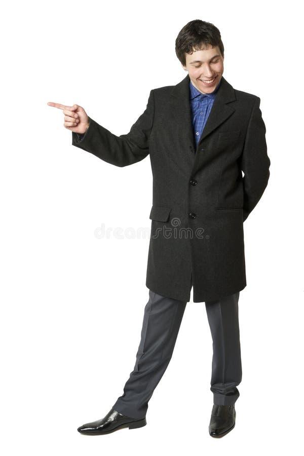 Download Um Homem Em Um Revestimento Foto de Stock - Imagem de gesto, estar: 29848518