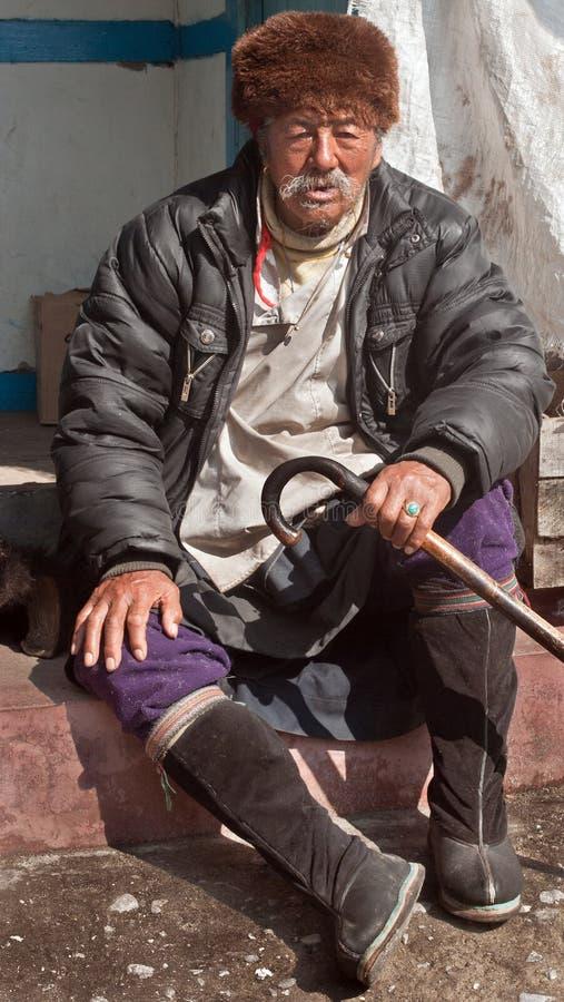 Um homem local de Sikkim fotos de stock