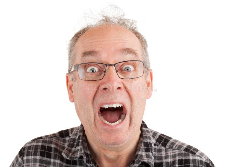 Um homem Panick-é golpeado imagens de stock royalty free