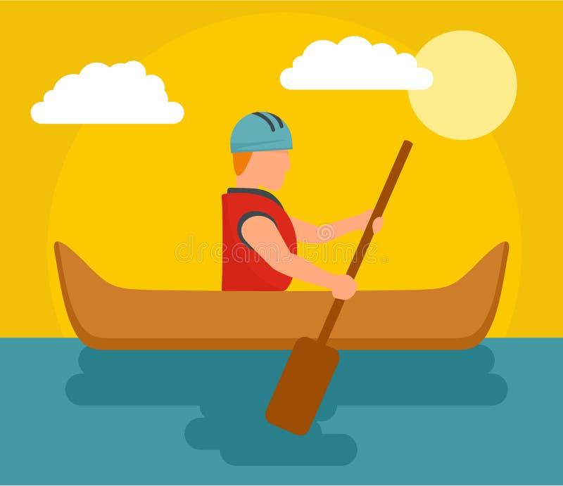 Um homem que transporta o fundo, estilo liso ilustração do vetor