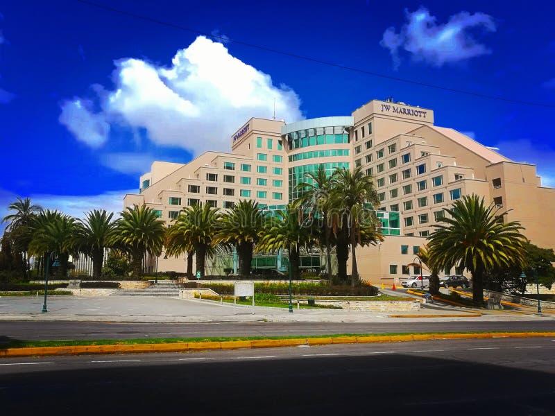 Um hotel agradável em Equador fotos de stock