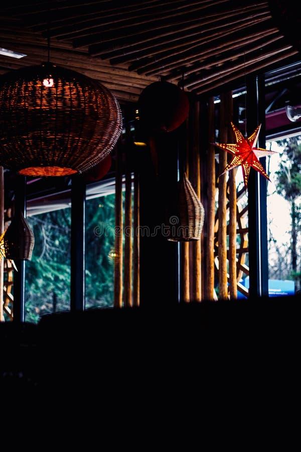 Um interior asiático do restaurante foto de stock royalty free