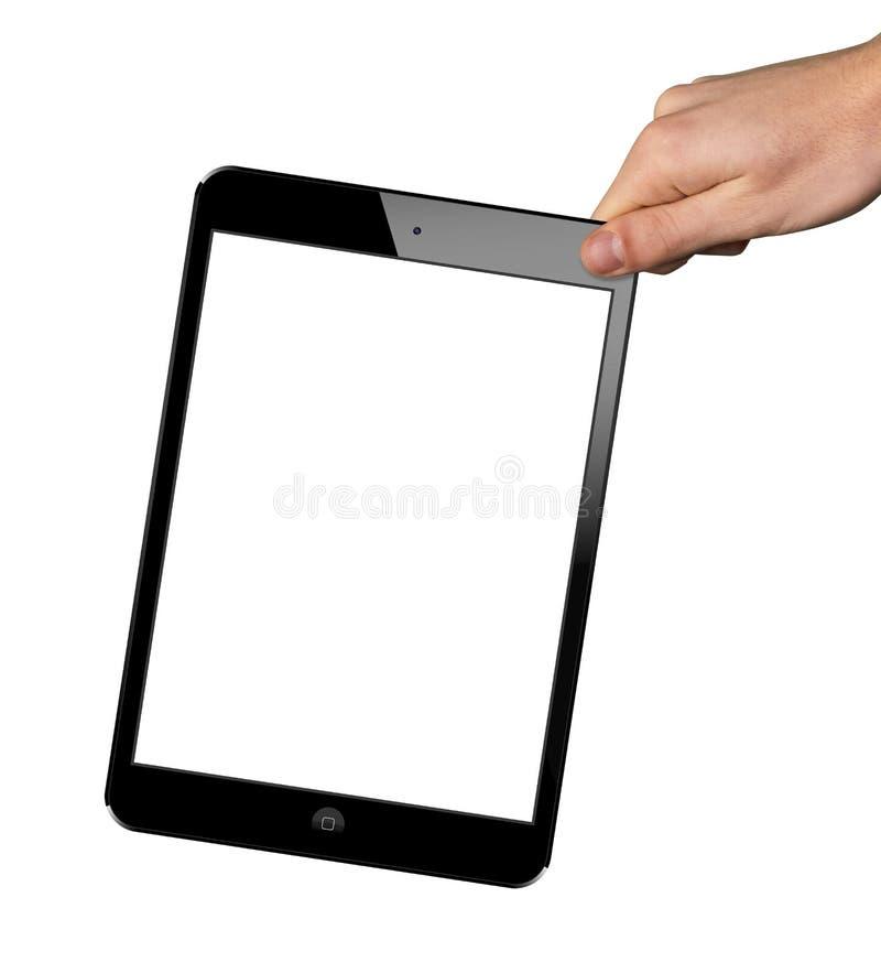 Um Ipad novo à disposição imagens de stock royalty free