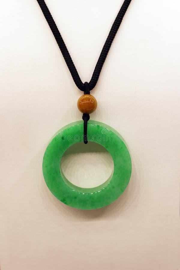 Um jade do verde esmeralda fotografia de stock