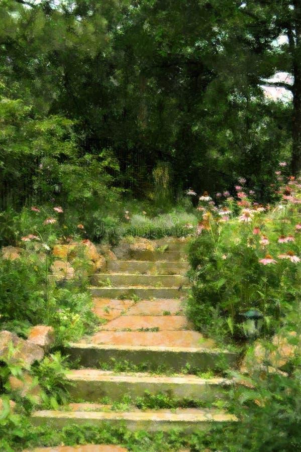 Um jardim em Colorado fotos de stock