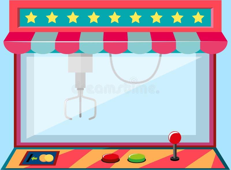 Um jogo da máquina do guindaste da garra ilustração royalty free