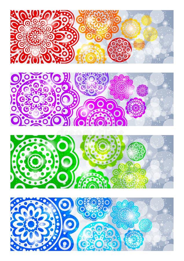 Download Um Jogo Das Bandeiras Com Flores Abstratas Ilustração do Vetor - Ilustração de brilho, bonito: 26520696