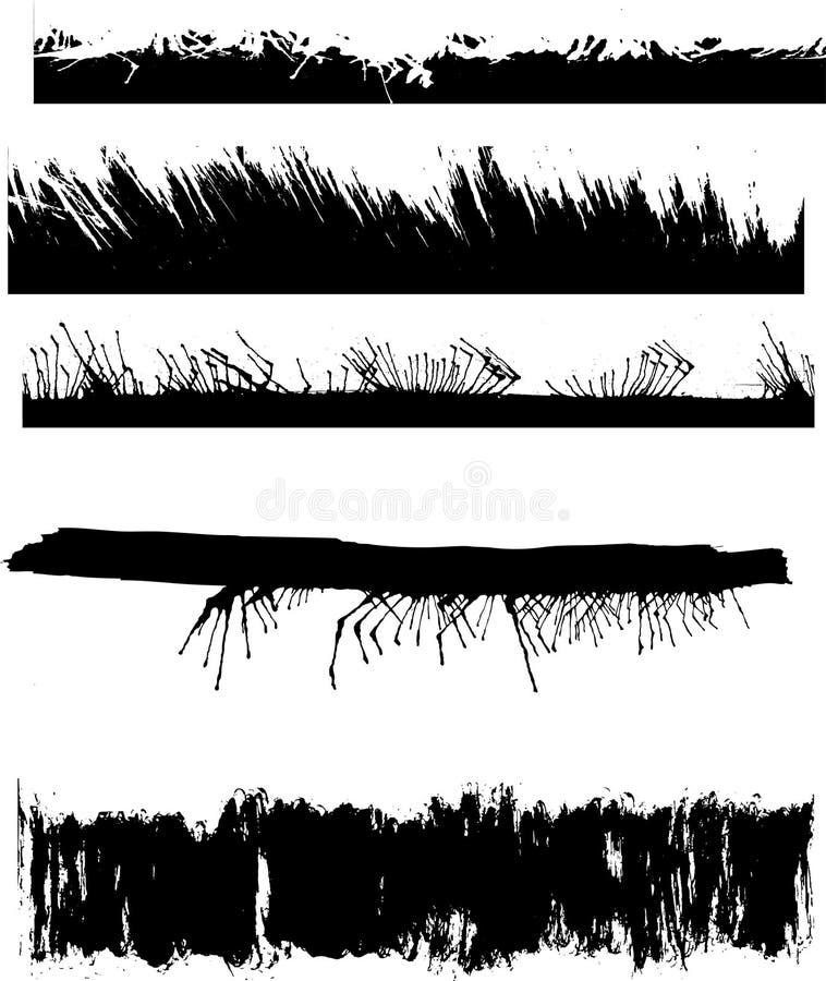 Um jogo de bordas do grunge ilustração do vetor