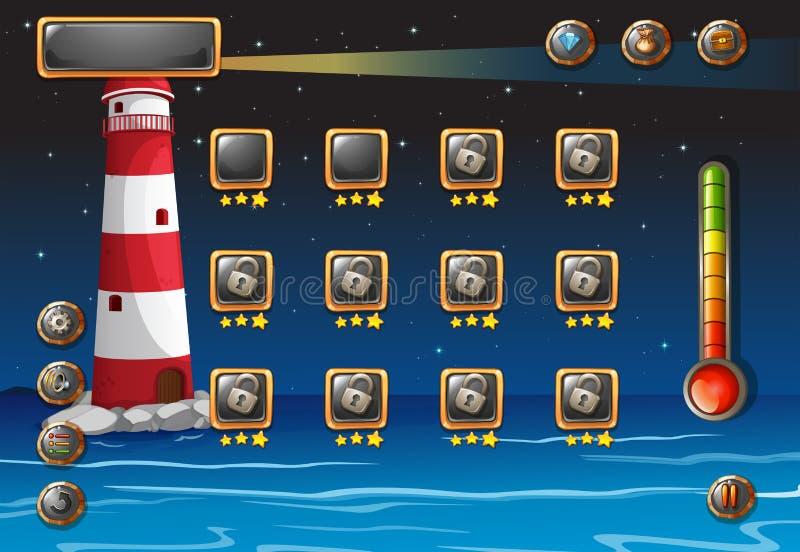 Um jogo de computador ilustração royalty free