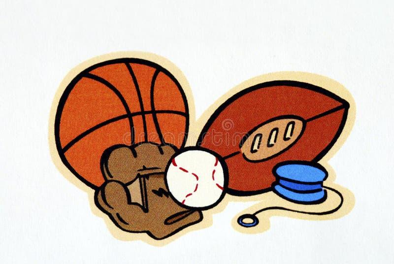 Um jogo de esferas diferentes do esporte ilustração do vetor