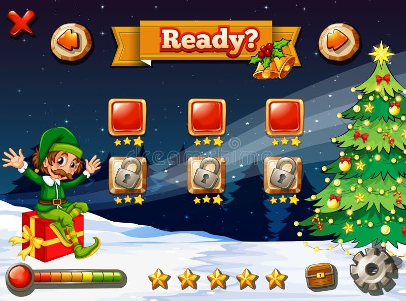 Um jogo de vídeo para o Natal ilustração royalty free