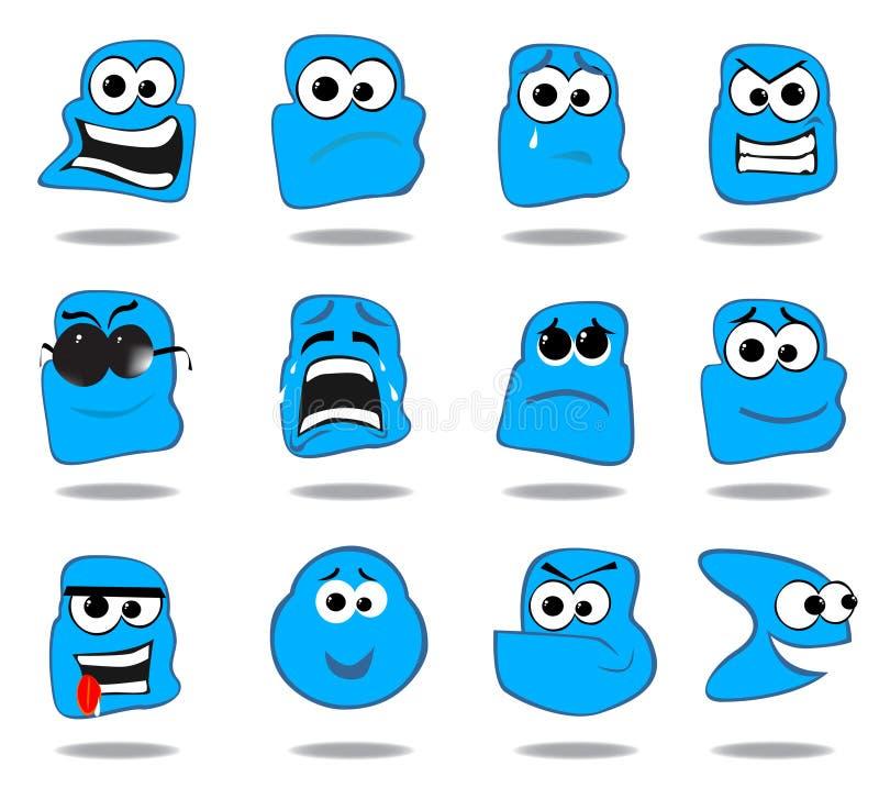 Um grupo de emoticons ilustração do vetor
