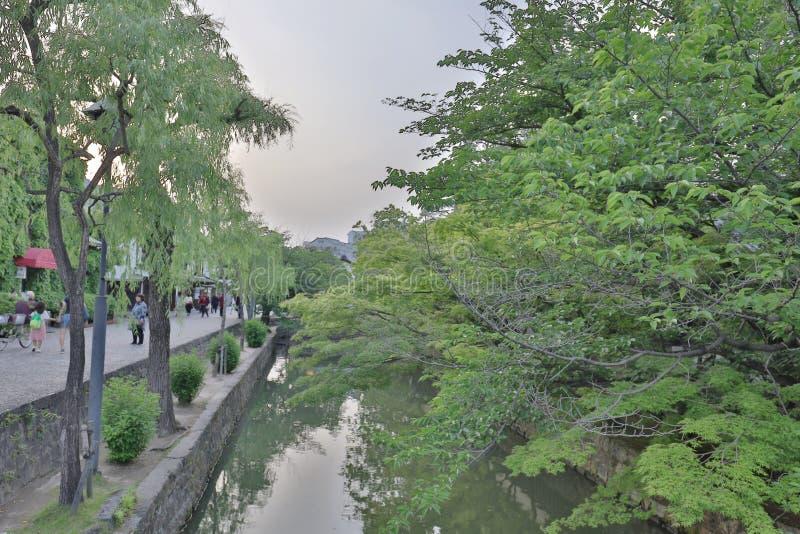 um Kurashiki Japão, uma área histórica de Bikan imagens de stock royalty free