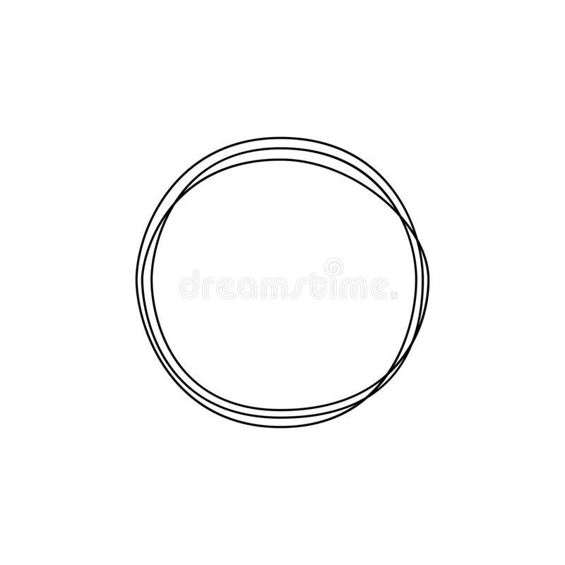 Um a lápis contínuo círculo do desenho Arte do minimalismo Ilustra??o do vetor ilustração do vetor