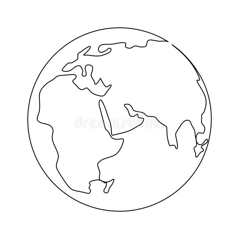 Um a l?pis desenho do projeto minimalista da terra ilustração royalty free