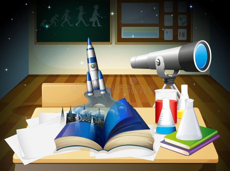 Um laboratório ilustração stock