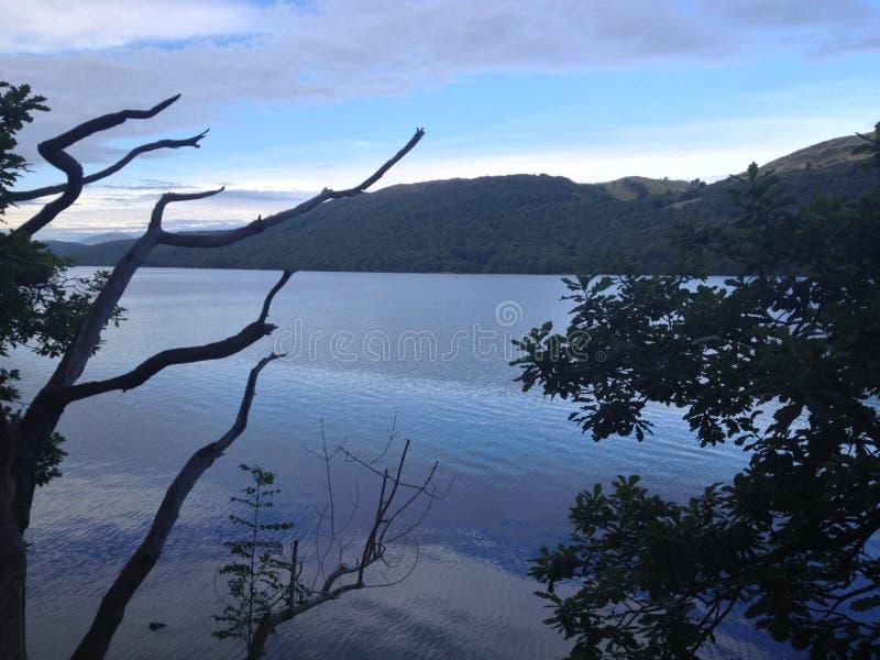 Um lago tranquilo imagens de stock