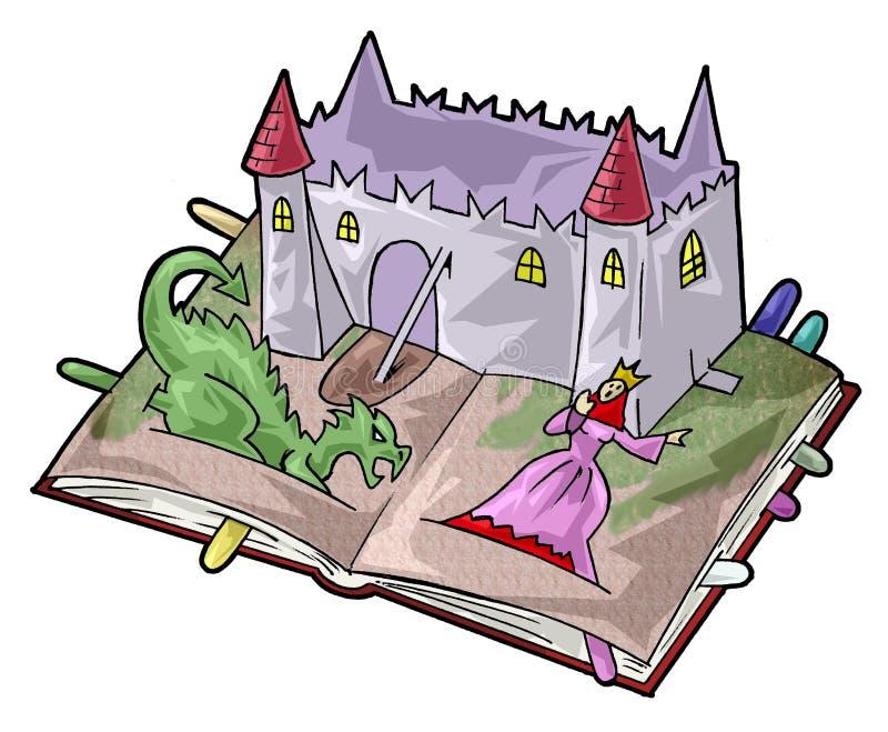 Um livro do fairy-tale ilustração do vetor