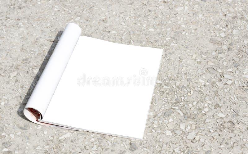 Um livro do modelo, um diretório aberto vazio da página, um compartimento, um folheto ou uma brochura do bolso imagens de stock royalty free